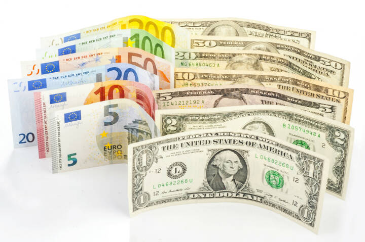 Euro, Dollar, Banknoten - http://www.shutterstock.com/de/pic-258340211/stock-photo-two-leading-hard-currencies-us-dollar-and-euro.html