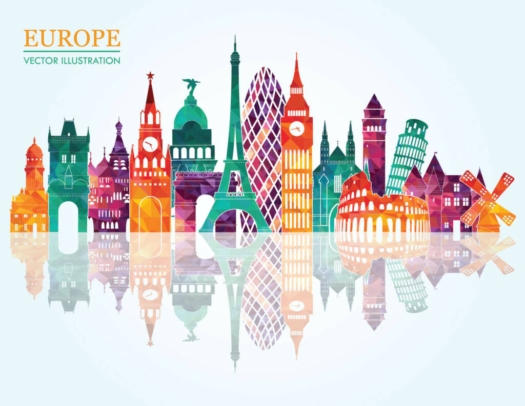 vector illustration of europe - photo #25