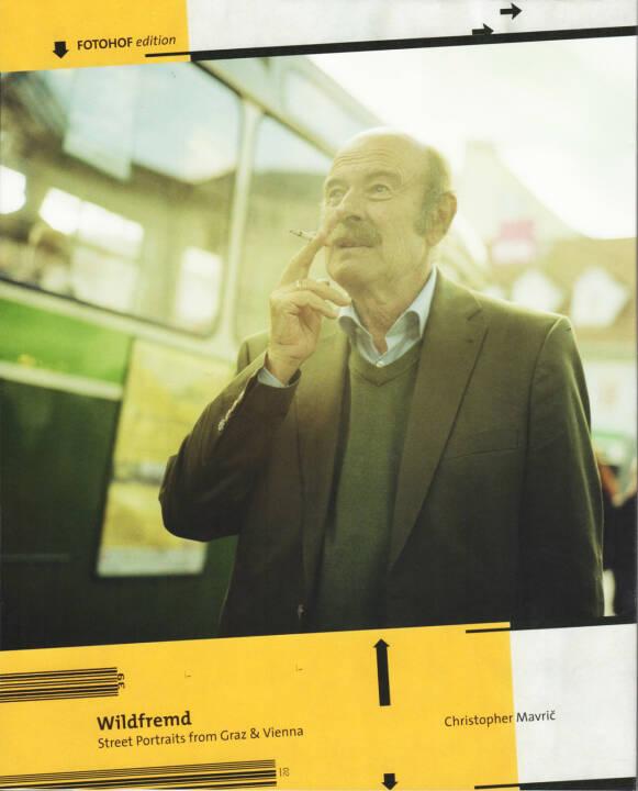 Christopher Mavric - Wildfremd - Street Portraits from Graz & Vienna, Fotohof 2015, Cover - http://josefchladek.com/book/christopher_mavric_-_wildfremd_-_street_portraits_from_graz_vienna