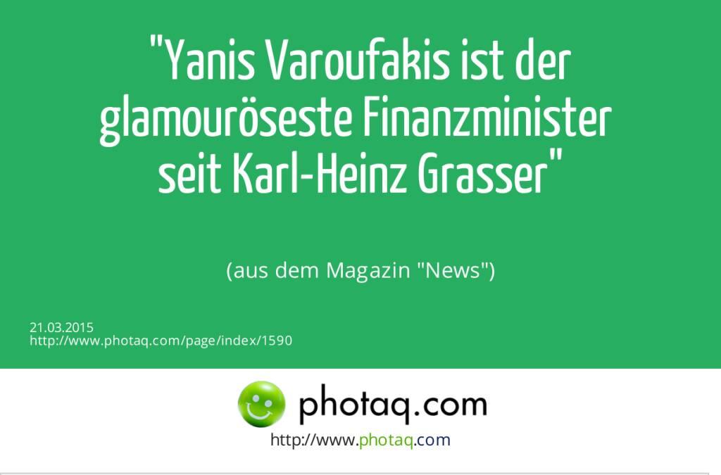 Yanis Varoufakis ist der glamouröseste Finanzminister seit Karl-Heinz Grasser (aus dem Magazin News) (21.03.2015)