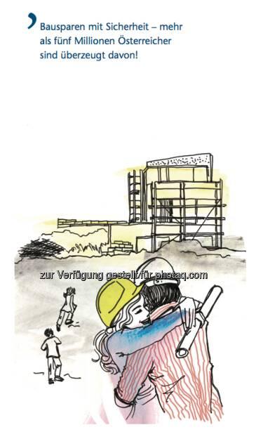 Bausparen in Österreich: Sujet Bausparen mit Sicherheit - mehr als fünf Millionen Österreicher sind überzeugt davon, © Arbeitsforum österreichischer Bausparkassen (19.02.2013)