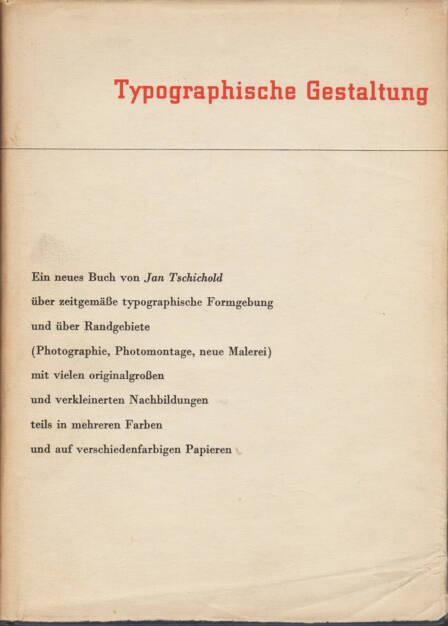 Jan Tschichold - Typographische Gestaltung, Benno Schwabe & Co. 1935, Cover - http://josefchladek.com/book/jan_tschichold_-_typographische_gestaltung, © (c) josefchladek.com (23.03.2015)