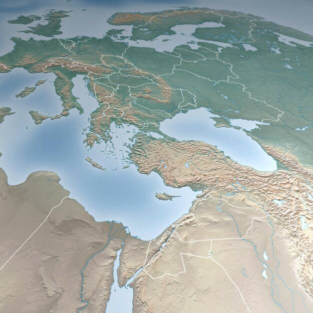 Satellitenbild, Europa, http://www.shutterstock.com/de/pic-180064625/stock-photo-map-of-europe-asia-middle-east-crimea-and-ukraine-elements-of-this-image-furnished-by-nasa.html (23.03.2015)