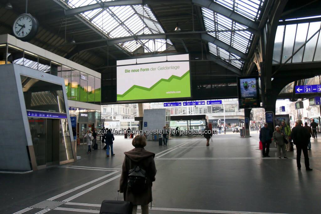 Zürich Hauptbahnhof Die neue Form der Geldanlage wikifolio (24.03.2015)
