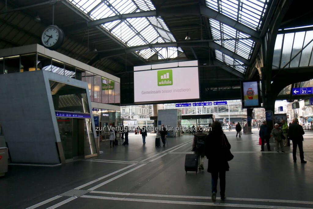 Zürich Hauptbahnhof Gemeinsam besser investieren wikifolio (24.03.2015)