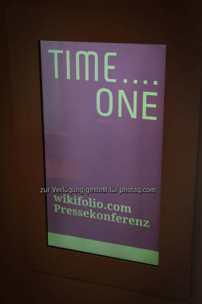 wikifolio Pressekonferenz Time...One (24.03.2015)