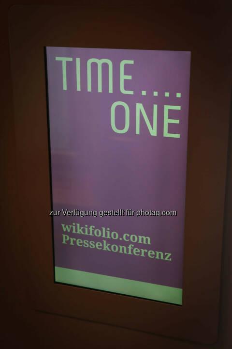 wikifolio Pressekonferenz Time...One