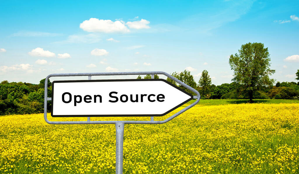 Open Source, Schild, Tafel, Wiese http://www.shutterstock.com/de/pic-143318599/stock-photo-open-source.html, © www.shutterstock.com (25.03.2015)