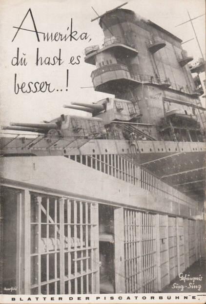 Blätter der Piscatorbühne - Amerika, Du hast es besser!, Bepa-Verlag 1928, Cover - http://josefchladek.com/book/blatter_der_piscatorbuhne_-_amerika_du_hast_es_besser, © (c) josefchladek.com (30.03.2015)
