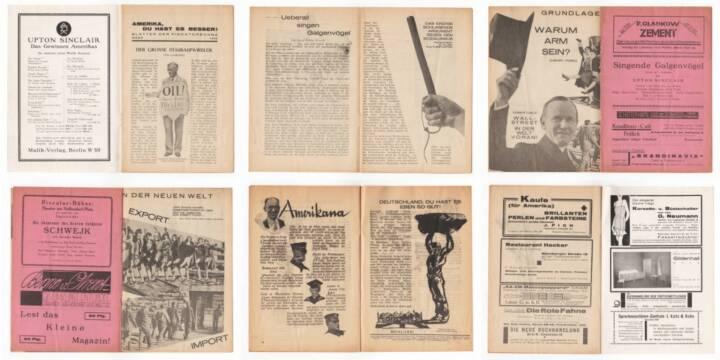 Blätter der Piscatorbühne - Amerika, Du hast es besser!, Bepa-Verlag 1928, Beispielseiten, sample spreads - http://josefchladek.com/book/blatter_der_piscatorbuhne_-_amerika_du_hast_es_besser
