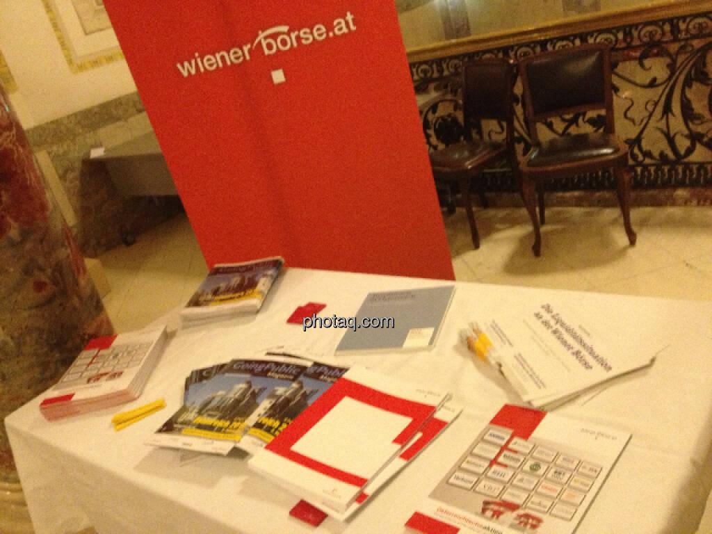 Fachheft beim Austrian Equity Day (15.12.2012)