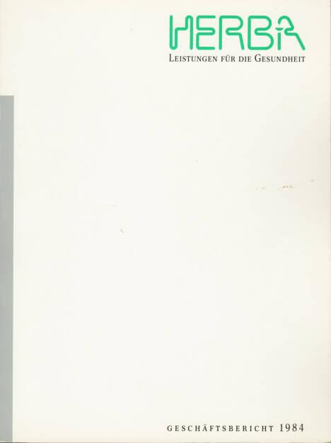 Herba Geschäftsbericht 1984 - http://boerse-social.com/financebooks/show/herba_geschaftsbericht_1984 (31.03.2015)