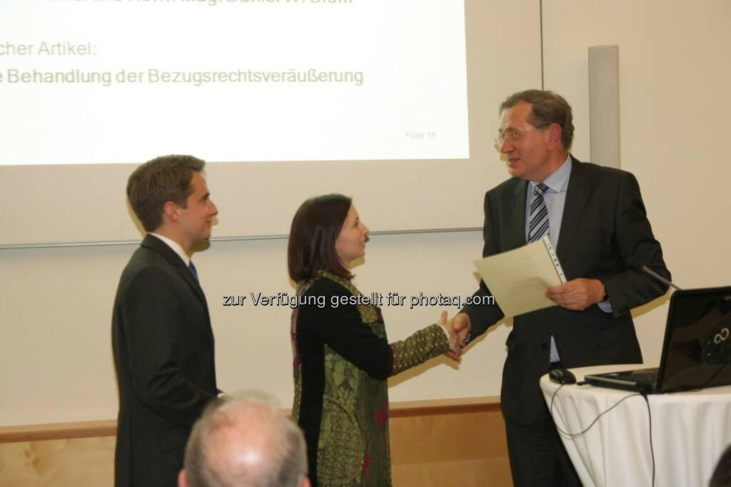 Daniel W. Blum, Marlies Steindl, Wilhelm Rasinger, © IVA (20.02.2013)