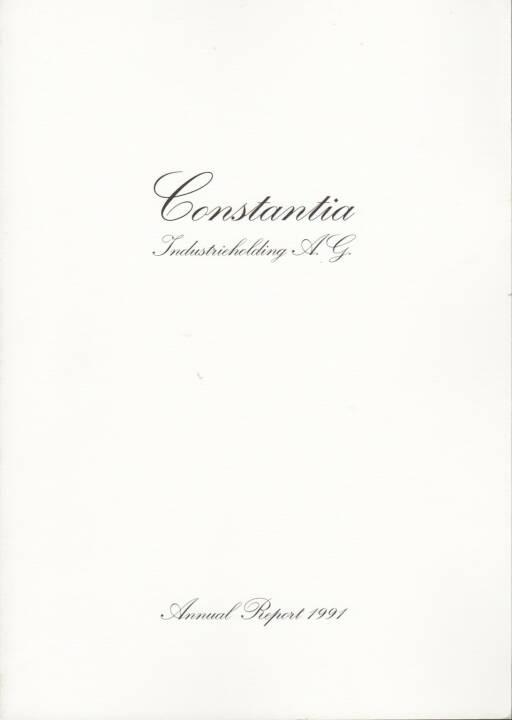 Constantia Industrieholding AG Geschäftsbericht 1991 - http://boerse-social.com/financebooks/show/constantia_industrieholding_ag_geschaftsbericht_1991