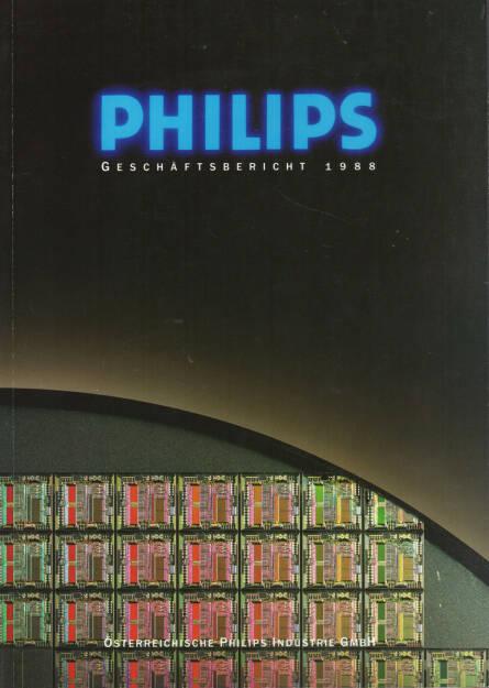 Österreichische Philips Industrie GmbH Geschäftsbericht 1988 - http://boerse-social.com/financebooks/show/osterreichische_philips_industrie_gmbh_geschaftsbericht_1988 (31.03.2015)