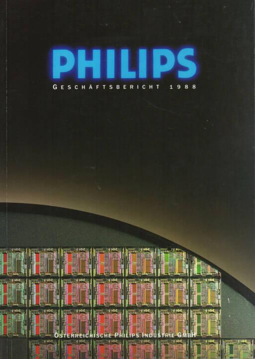 Österreichische Philips Industrie GmbH Geschäftsbericht 1988 - http://boerse-social.com/financebooks/show/osterreichische_philips_industrie_gmbh_geschaftsbericht_1988