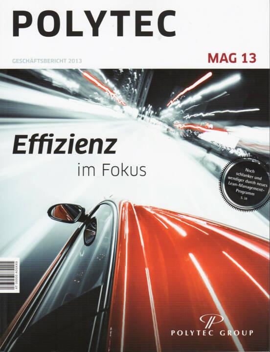 Polytec Geschäftsbericht 2013 - http://boerse-social.com/financebooks/show/polytec_geschaftsbericht_2013