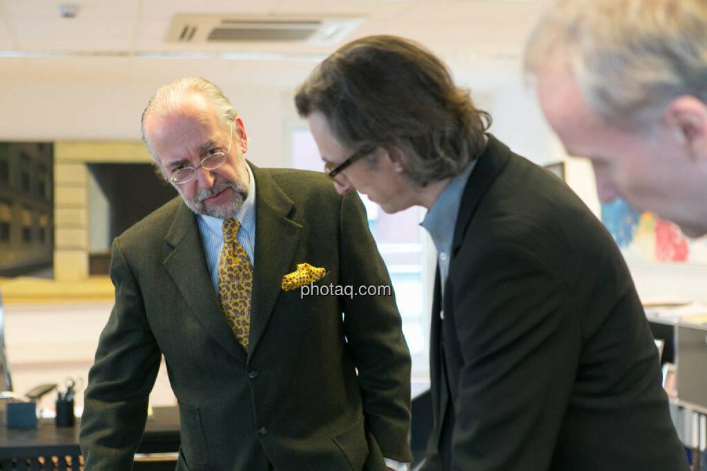 Manfred Waldenmair (be public), Josef Chladek, Christian Drastil, © photaq/Martina Draper (06.04.2015)