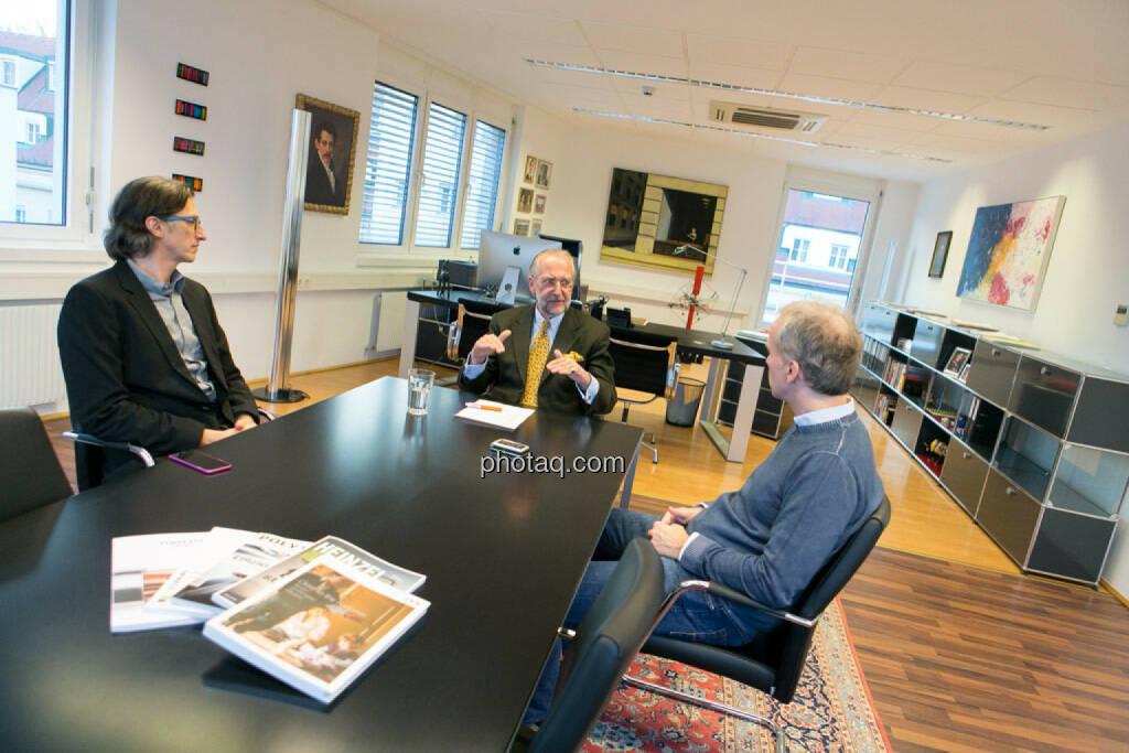 Josef Chladek, Manfred Waldenmair (be public), Christian Drastil, © photaq/Martina Draper (06.04.2015)