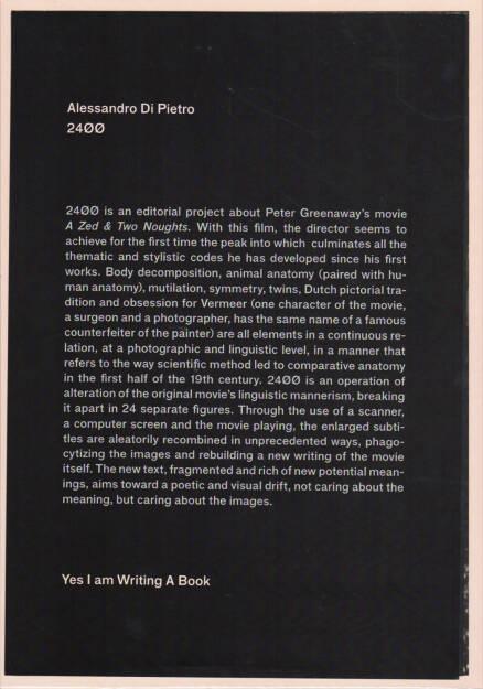 Alessandro Di Pietro - 24ØØ, Yes I am writing A Book 2015, Cover - http://josefchladek.com/book/alessandro_di_pietro_-_24oo, © (c) josefchladek.com (08.04.2015)