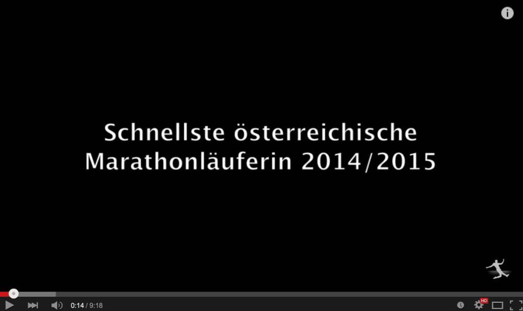 Conny Köpper schnellst österreichischen Marathonläuferin 2014/2015 (08.04.2015)