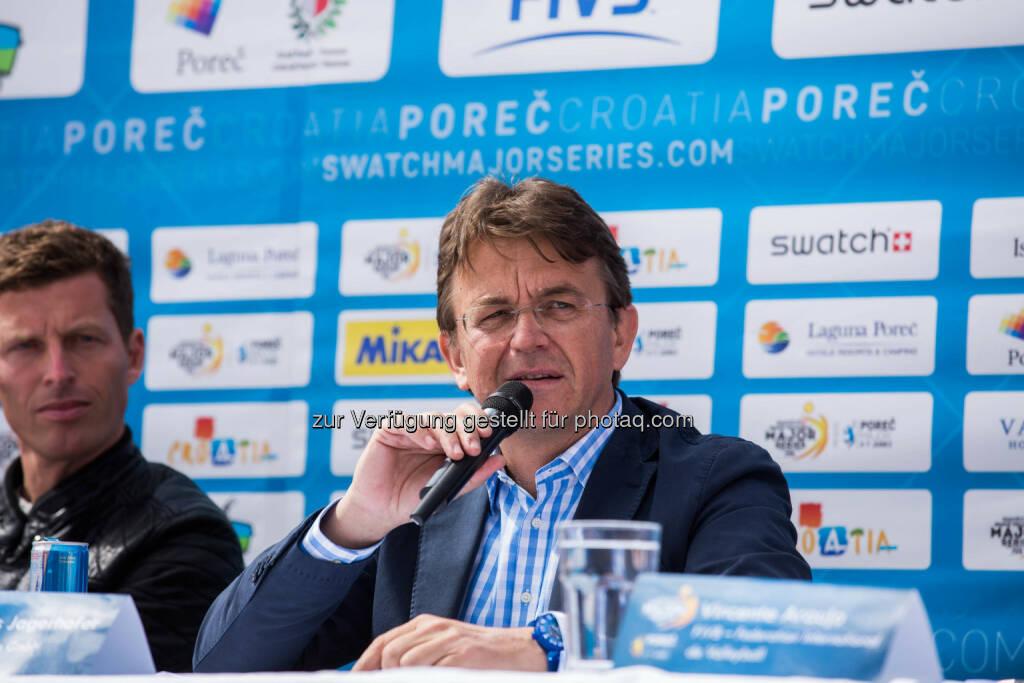 Hannes Jagerhofer, CEO of Beach Majors GmbH verkündete heute den Tour-Start in Poreč (Bild: Tomislav Može), © Aussendung (09.04.2015)