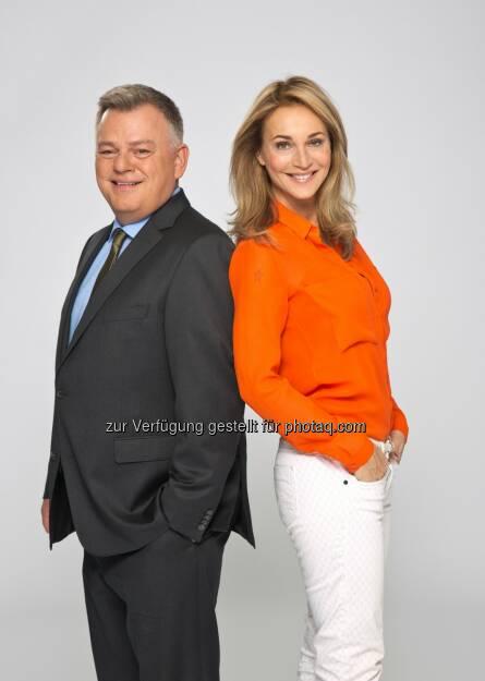 Moderatoren Caroline Beil und Boris Henn  - doppio: doppioTV startet mit eigenem Magazinformat bei TV24 (Bild: doppio), © Aussender (09.04.2015)