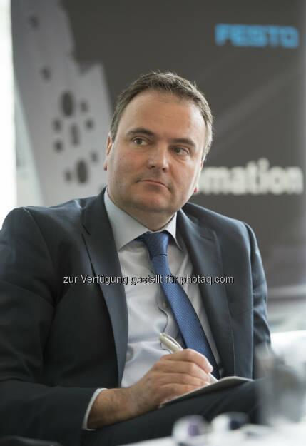 Rainer Ostermann, Country Manager Festo Österreich - Trendbarometer Industriebetriebe 2015: Industrie 4.0 – Trend oder Hype? (Bild: Festo Gesellschaft m.b.H./APA-Fotoservice/Hörmandinger), © Aussender (09.04.2015)
