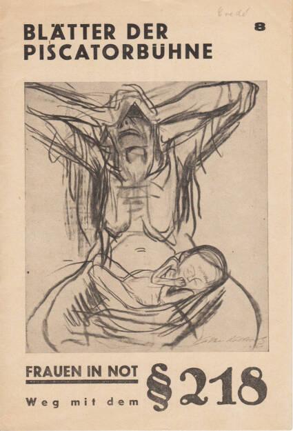 Blätter der Piscatorbühne - Frauen in Not §218, Bepa-Verlag 1930, Cover - http://josefchladek.com/book/blatter_der_piscatorbuhne_-_frauen_in_not_218, © (c) josefchladek.com (10.04.2015)