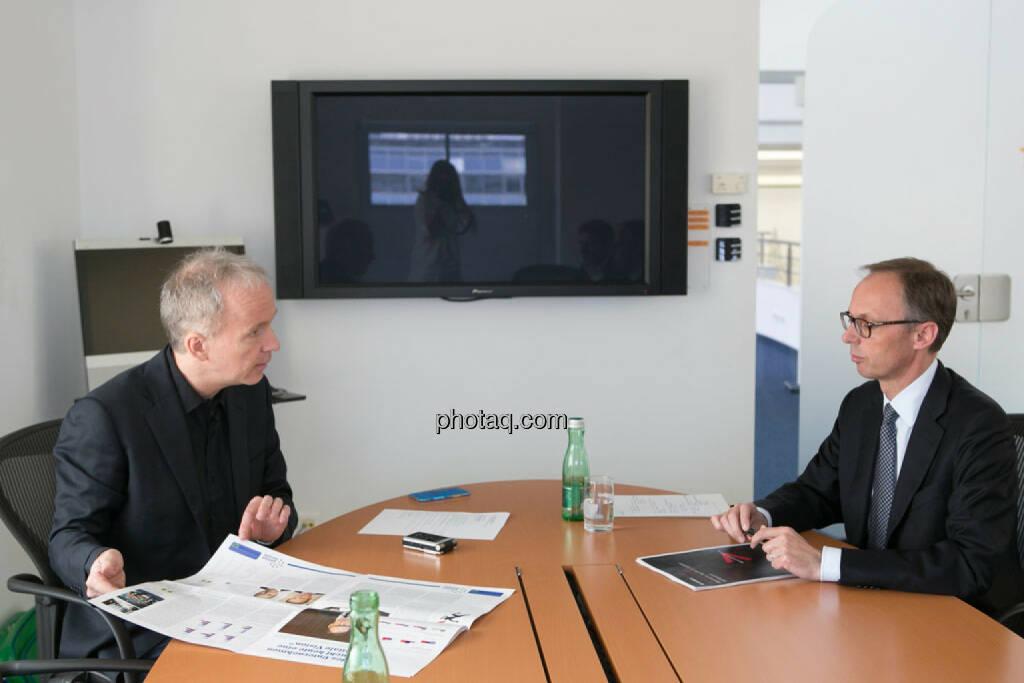 Christian Drastil, Klaus Malle (Accenture), © photaq/Martina Draper (11.04.2015)