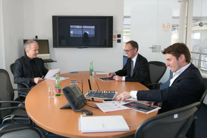 Christian Drastil, Klaus Malle (Accenture), Peter Auer (Accenture)