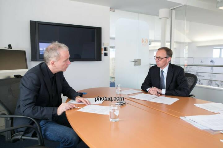 Christian Drastil, Klaus Malle (Accenture)