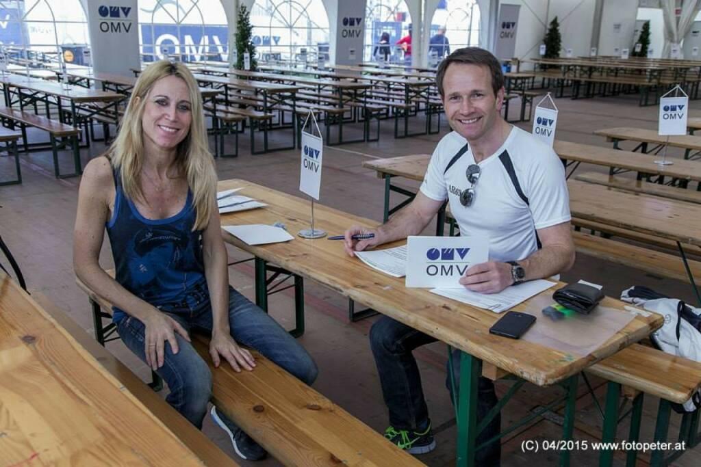 OMV als Marathon-Hauptsponsor mit Alexander Rüdiger (13.04.2015)