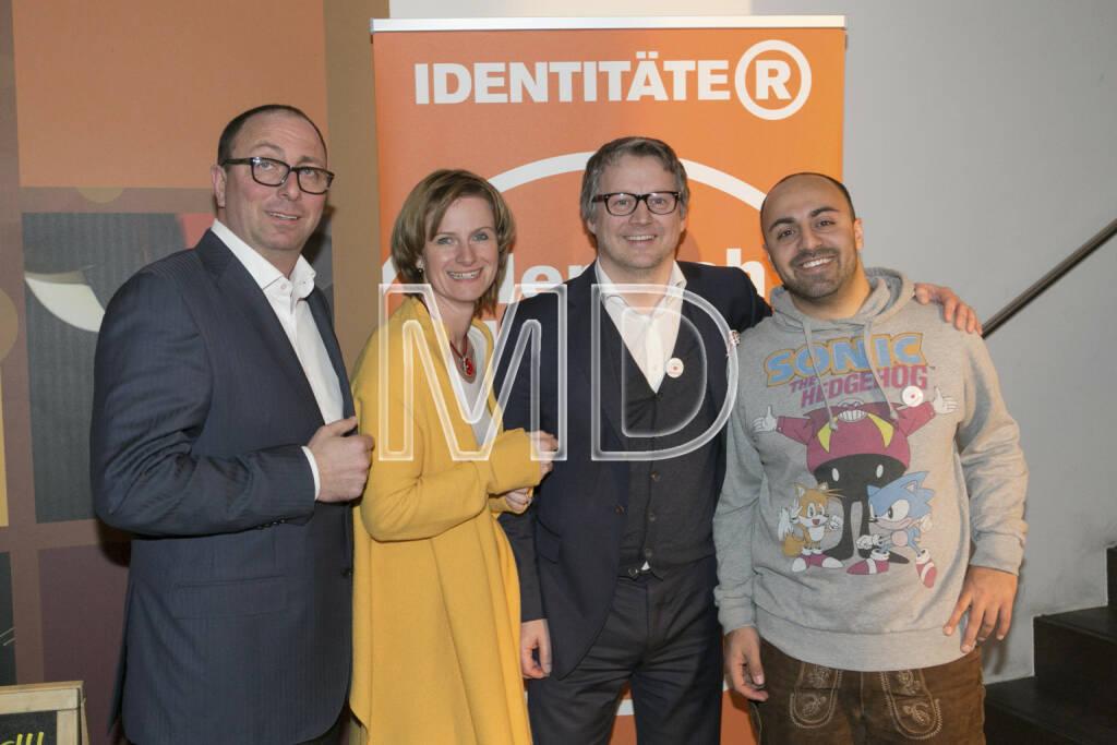 Markus Gruber (Careers Best Recruiter), Karin Krobath (Identitäter), Ralf Tometschek (Identitäter), Ali Mahlodji (Whatchado), © Martina Draper (20.02.2013)