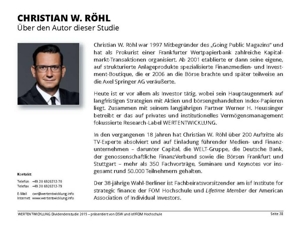 CHRISTIAN W. RÖHL (13.04.2015)