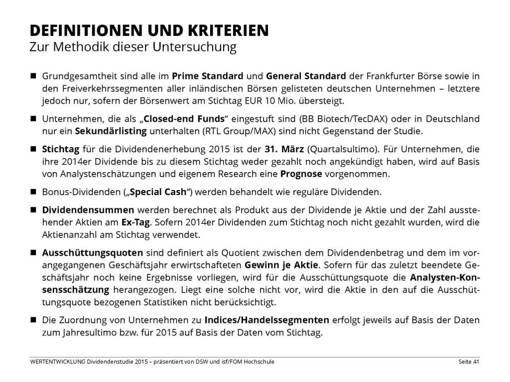 DEFINITIONEN UND KRITERIEN (13.04.2015)