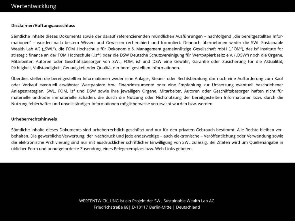 Wertentwicklung (13.04.2015)