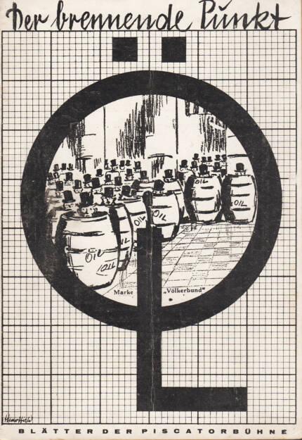Blätter der Piscatorbühne - Der brennende Punkt - Öl, Bepa-Verlag 1928, Cover - http://josefchladek.com/book/blatter_der_piscatorbuhne_-_der_brennende_punkt, © (c) josefchladek.com (14.04.2015)