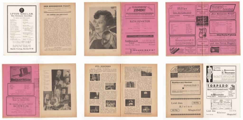 Blätter der Piscatorbühne - Der brennende Punkt - Öl, Bepa-Verlag 1928, Beispielseiten, sample spreads - http://josefchladek.com/book/blatter_der_piscatorbuhne_-_der_brennende_punkt, © (c) josefchladek.com (14.04.2015)