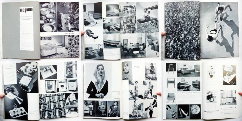 magnum – die Zeitschrift für das moderne Leben, Nummer 1, Zeitschriftenverlag Austria International 1954, Beispielseiten, sample spreads - http://josefchladek.com/book/magnum_die_zeitschrift_fur_das_moderne_leben_nummer_1_1954_-_wieso_modern, © (c) josefchladek.com (15.04.2015)