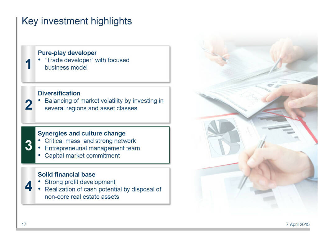 Key investment highlights (16.04.2015)