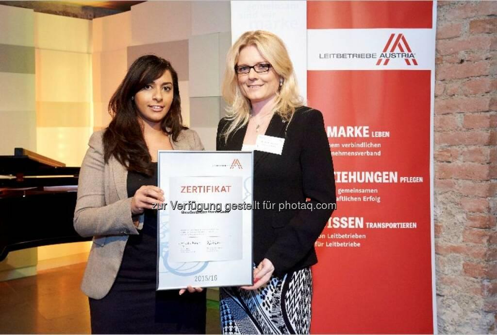 "Mae Fadar, Therapy Area Manager Respiratory, GSK Austria: GlaxoSmithKline Pharma GmbH: GlaxoSmithKline ist ein ""Leitbetrieb Austria"", © Aussender (17.04.2015)"