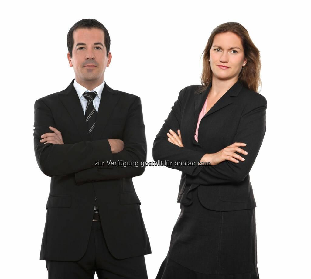 Wolfgang Höller und Miriam Simsa, beide Schönherr: Schönherr berät Kreditgeber der bauMax-Gruppe beim Verkauf des ungarischen Immobilien-Portfolios, © Aussendung (17.04.2015)