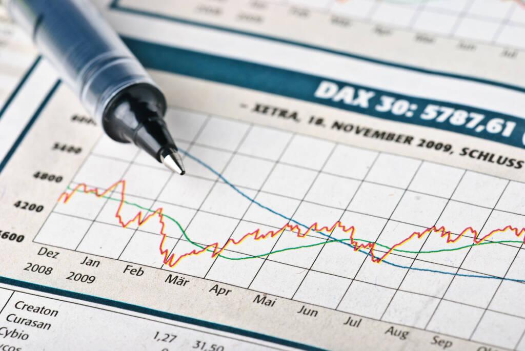 DAX 30, Kurse, Chart, Kugelschreiber http://www.shutterstock.com/de/pic-42667519/stock-photo-financial-market.html, © www.shutterstock.com (17.04.2015)