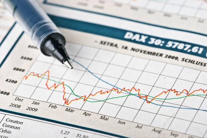 DAX 30, Kurse, Chart, Kugelschreiber http://www.shutterstock.com/de/pic-42667519/stock-photo-financial-market.html