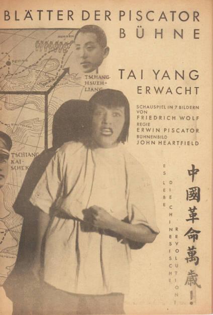 Blätter der Piscatorbühne - Tai Yang erwacht, Otto Gröner 1931, Cover - http://josefchladek.com/book/blatter_der_piscatorbuhne_-_tai_yang_erwacht, © (c) josefchladek.com (18.04.2015)