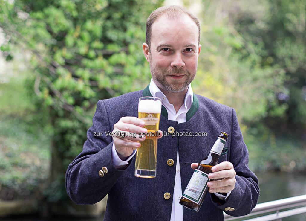 Brauereieigentümer Alois Meir, Neufeldner BioBrauerei GmbH: Neufeldner BioBrauerei bringt Bio-Pils auf den Markt, © Aussender (22.04.2015)