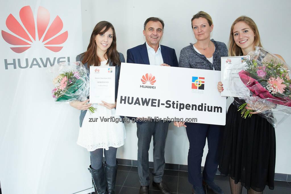 Die Gewinnerinnen des Huawei-Stipendiums 2014: Huawei Technologies Austria GmbH: Huawei-Stipendium startet in die vierte Runde, © Aussendung (22.04.2015)