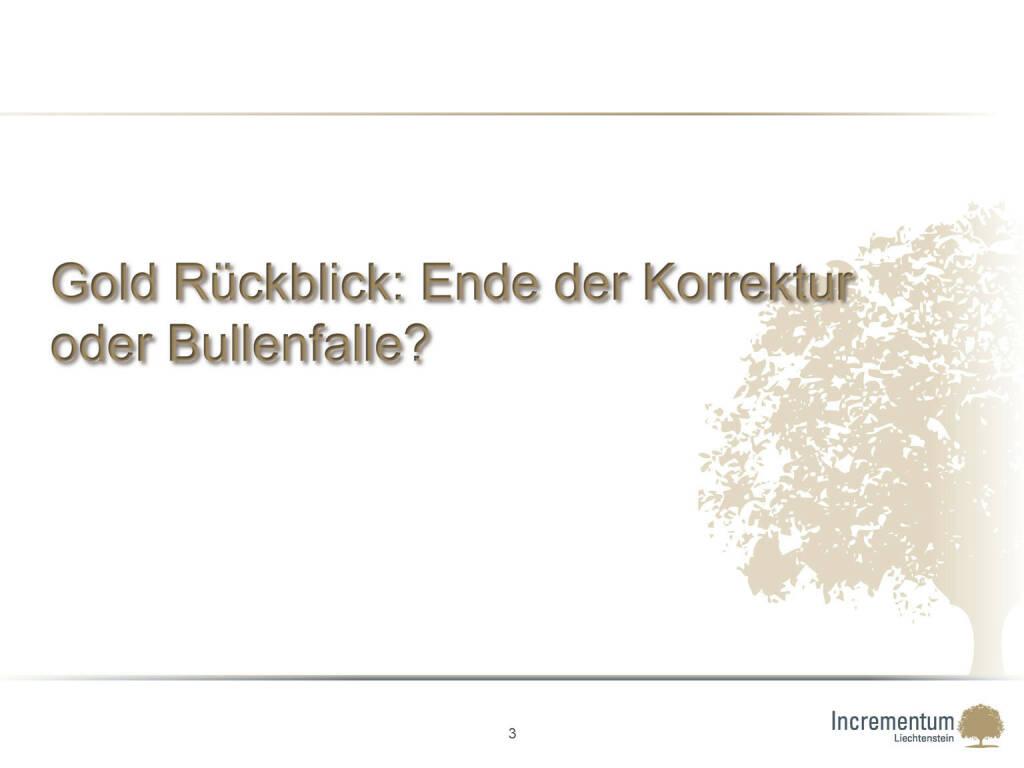 Gold Rückblick: Ende der Korrektur oder Bullenfalle? (24.04.2015)