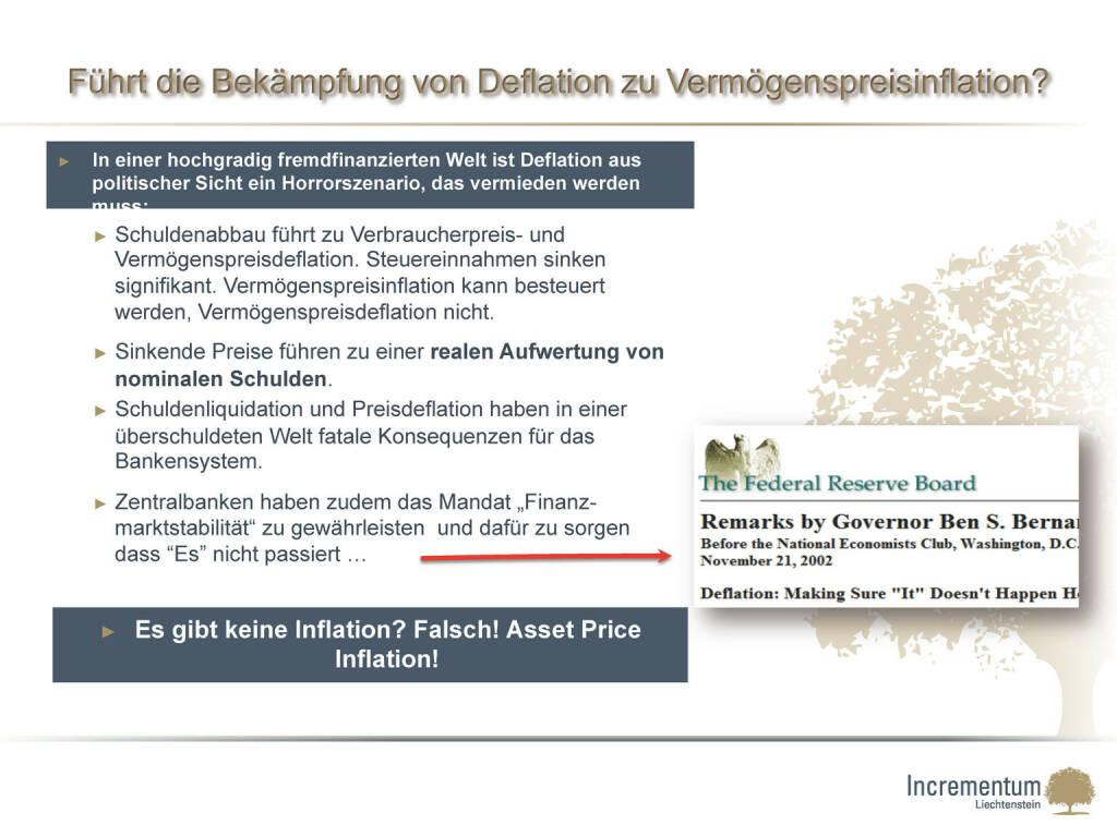 Führt die Bekämpfung von Deflation zu Vermögenspreisinflation? (24.04.2015)